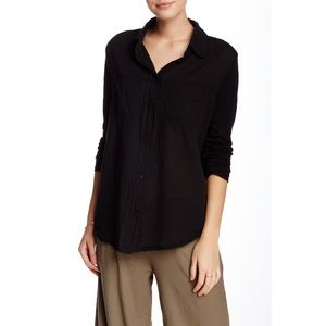 Michael Stars Voile Mix Long Sleeve Shirt